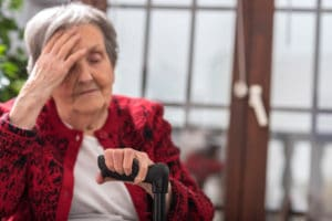 photo of elderly woman in a nursing home