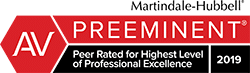 Martindale Hubbell av rated logo
